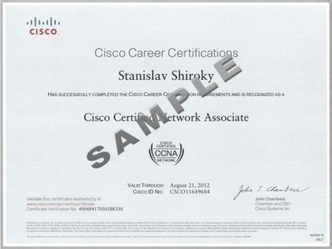 contoh sertifikat ccna