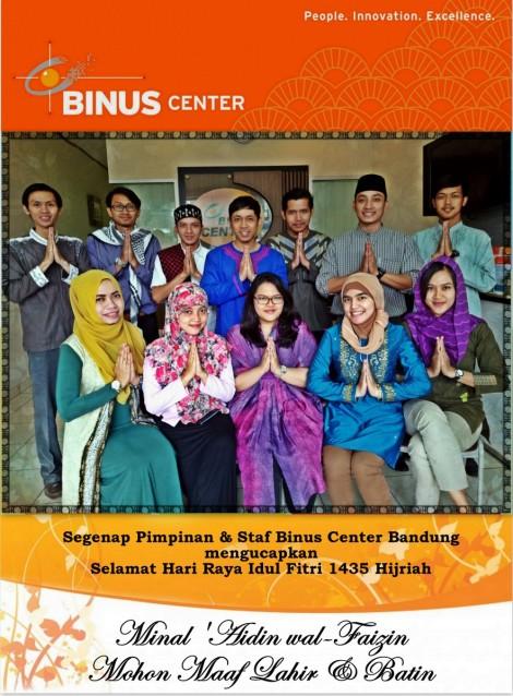 Binus Center Bandung, selamt hari raya idul fitri