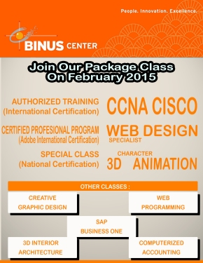 JOIN OUR PACKAGE CLASS ON FEBRUARY2015