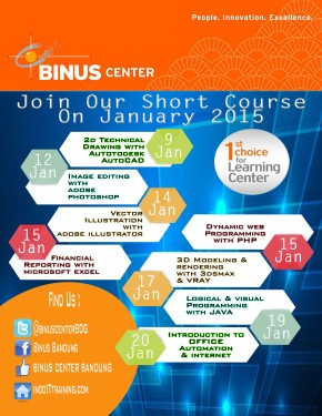 JOIN OUR SHORT COURSE ON JANUARY2015