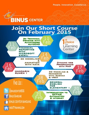 JOIN OUR SHORT COURSE ON FEBRUARY2015
